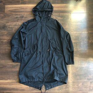 H&M L.O.G.G. Men's Black Hooded Coat